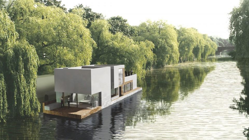 hausboot hamburg dfz architekten. Black Bedroom Furniture Sets. Home Design Ideas