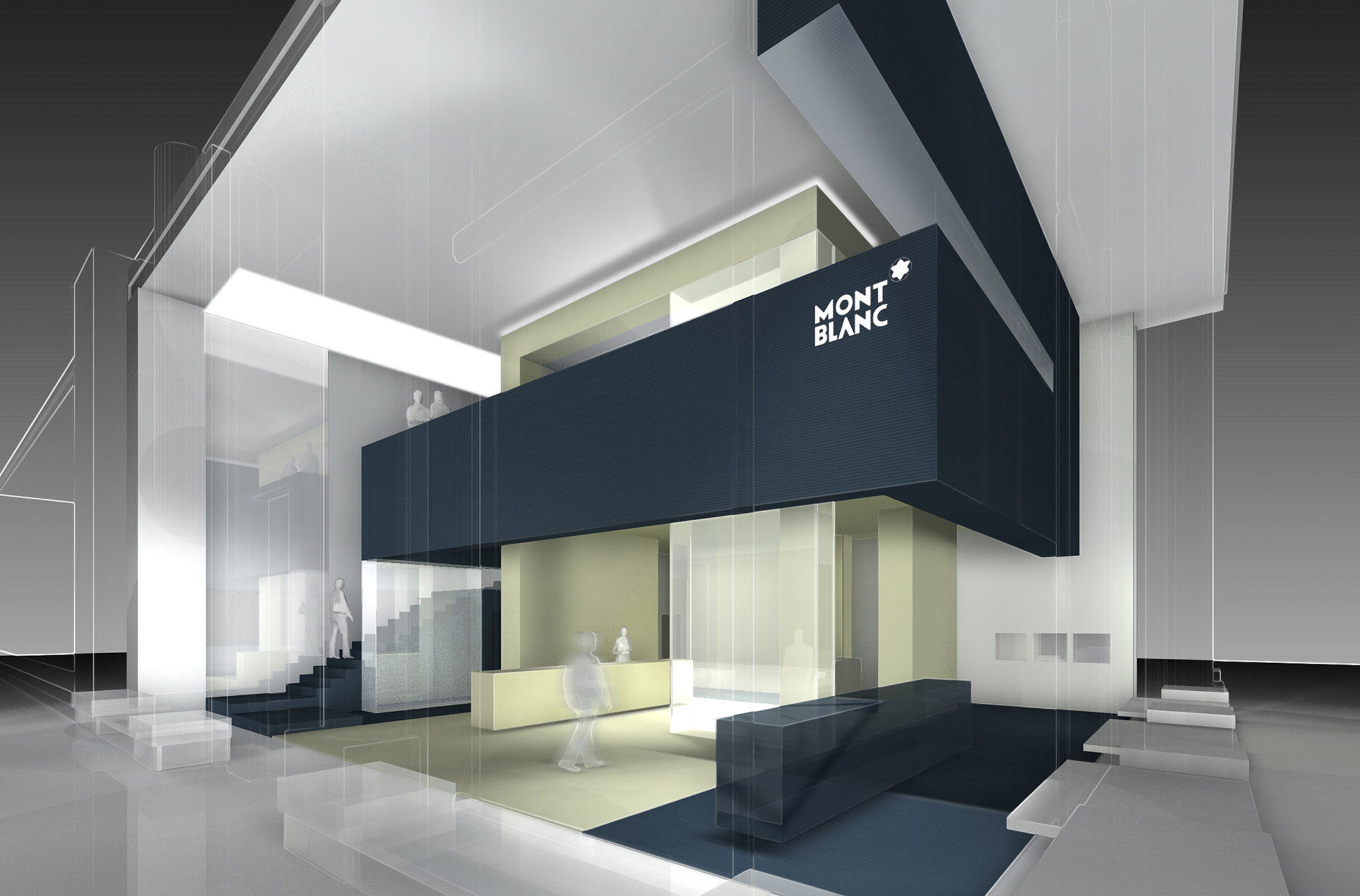 montblanc store new york city dfz architekten. Black Bedroom Furniture Sets. Home Design Ideas