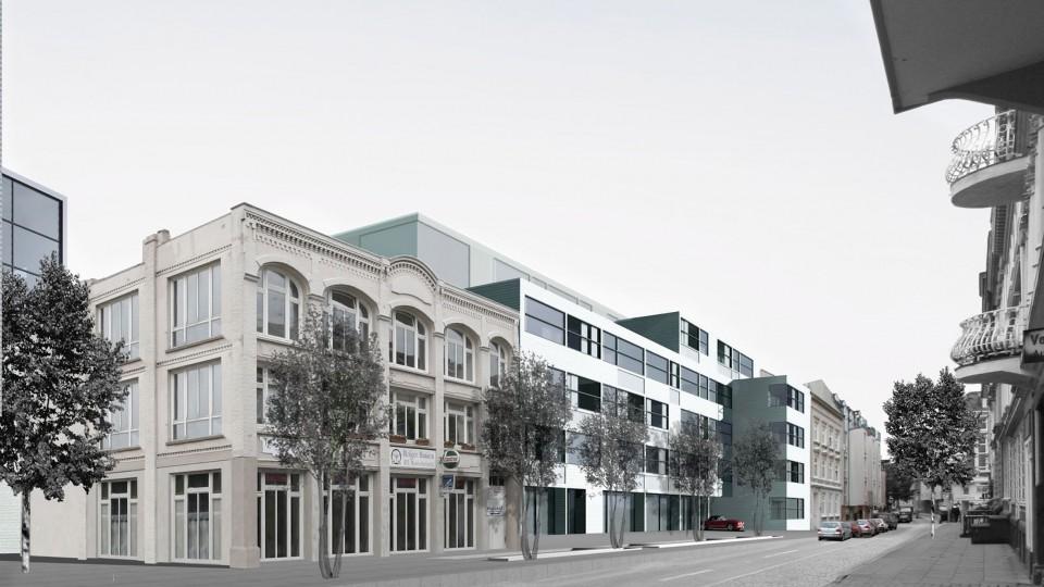 wohnen und arbeiten in ottensen hamburg dfz architekten. Black Bedroom Furniture Sets. Home Design Ideas