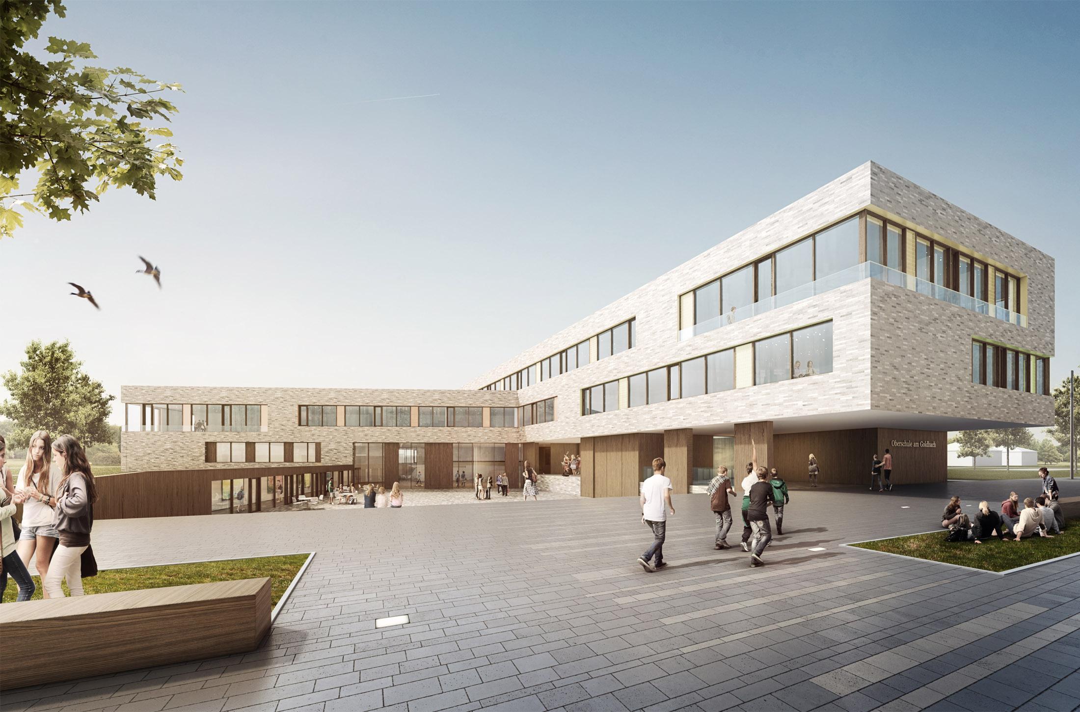 Schulzentrum am goldbach langwedel dfz architekten - Architekt essen ...