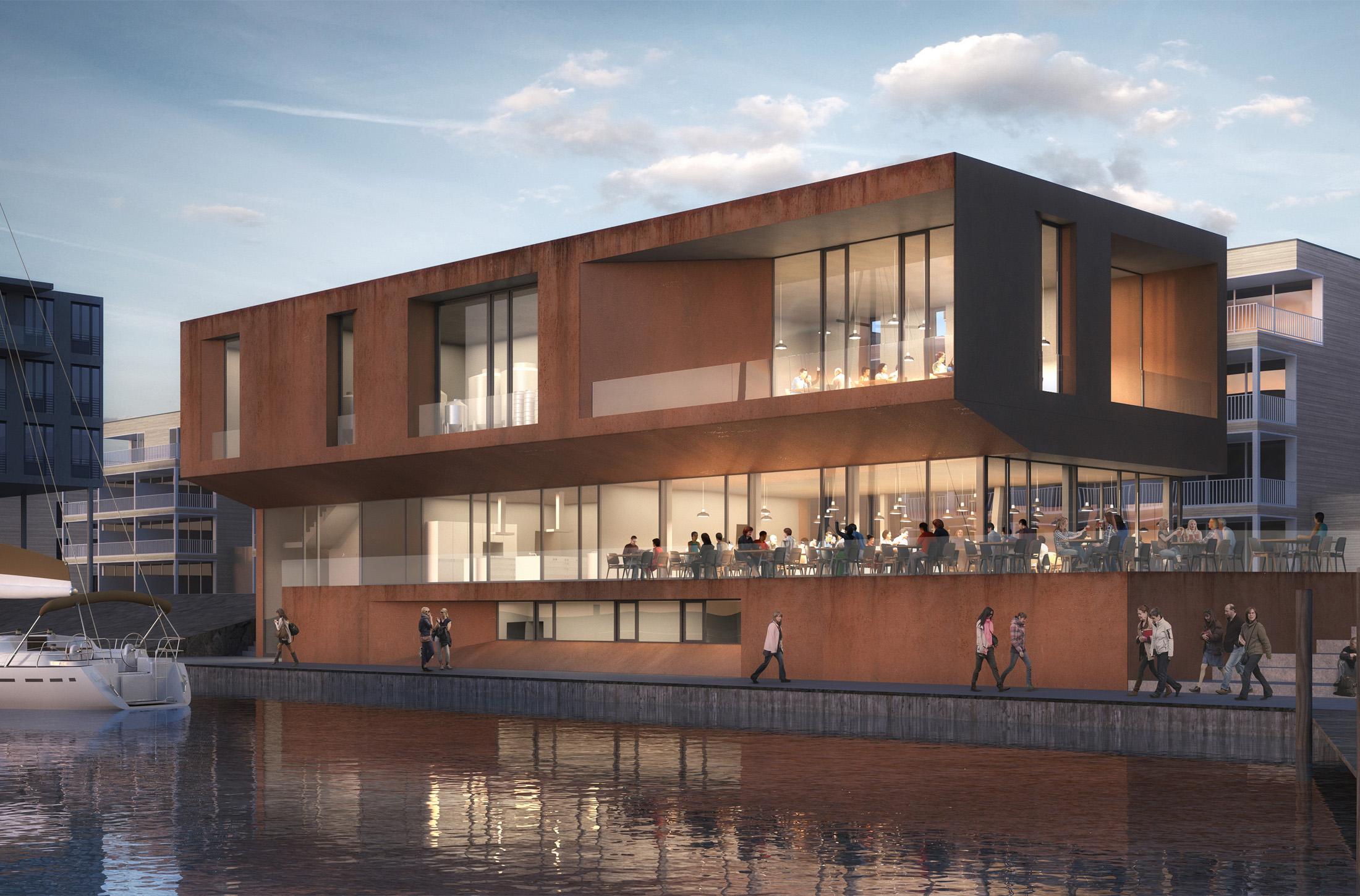 Priwall waterfront travem nde l beck dfz architekten - Architekten lubeck ...