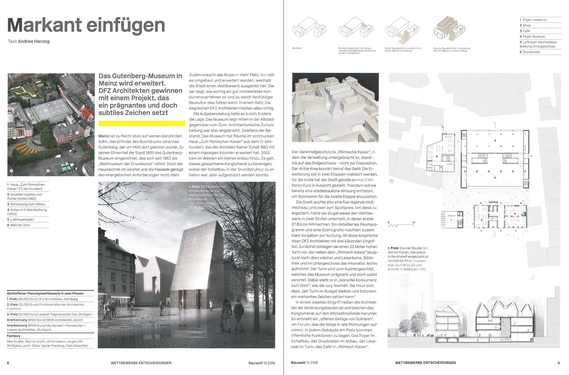 bauwelt 13 2016 gutenberg museum mainz dfz architekten. Black Bedroom Furniture Sets. Home Design Ideas